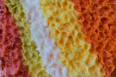 The colorful fancy wax as art background Stock Photo