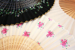 Colorful fans. As a  background Royalty Free Stock Photo