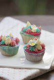 Colorful fantasy cupcake. (Vertical Stock Photography