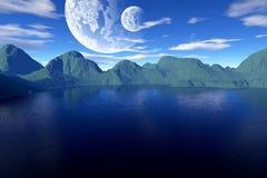 Colorful fantasy landscape Stock Image