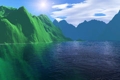 Colorful fantasy landscape Royalty Free Stock Photos
