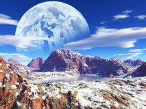 Colorful fantasy landscape Stock Photography