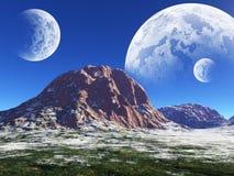 Colorful fantasy landscape Stock Photo