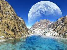 Colorful fantasy landscape Royalty Free Stock Photo