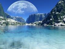 Colorful fantasy landscape Stock Images