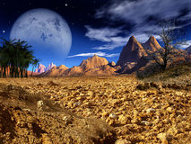 Colorful Fantasy Landscape Royalty Free Stock Images