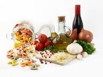 Colorful farfale pasta Stock Photo