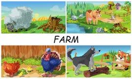 Free Colorful Farm Animals Concept Stock Image - 153584271