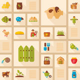 Colorful Farm Garden flat icon with long shadow Stock Image