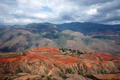 Colorful farmland in dongchuan of china Royalty Free Stock Images