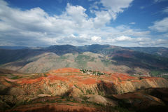 Colorful farmland in dongchuan of china Stock Photos