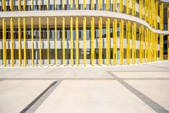 Colorful building fasade. Colorful fasade of the modern building for background stock photo