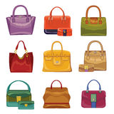 Colorful fashion handbags. Autumn Vector Stock Photo