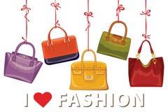 Colorful fashion handbags. Autumn Vector Stock Photos