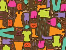 Colorful Fashion Pattern Background Stock Images