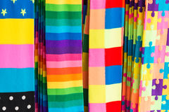 Colorful Fashion Stockings. In Japan Stock Image