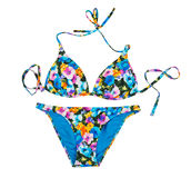 Colorful fashionable swimsuit. Isolate Royalty Free Stock Photo