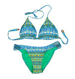 Colorful fashionable women`s swimsuit. Isolate on white Stock Images