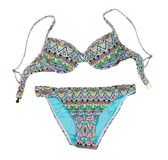 Colorful Fashionable Womens Swimsuit. Isolate Stock Photo
