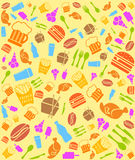 Colorful fast food bakground Royalty Free Stock Images