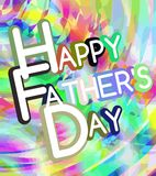 Colorful Fathers day greeting card Royalty Free Stock Images