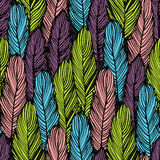 Colorful feather seamless background Royalty Free Stock Images