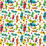 Colorful feather seamless pattern Stock Image