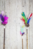 Colorful feathers background royalty free stock images
