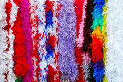 Colorful feathers. For carnival decoration background royalty free stock photo