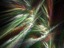Colorful feathers - fractal design stock illustration