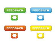 Colorful feedback button Royalty Free Stock Photo
