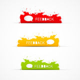 Colorful feedback icons Royalty Free Stock Image