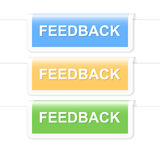 Colorful feedback labels Royalty Free Stock Photo