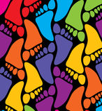 Colorful feet Stock Photography
