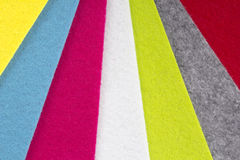 Colorful felt background Royalty Free Stock Images