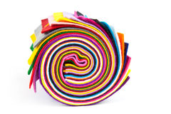 Colorful felt rolled up Royalty Free Stock Photography
