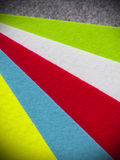 Colorful felt texture Stock Images