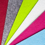 Colorful felt texture Stock Photography