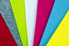 Colorful felt texture for background Stock Image