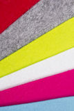 Colorful felt texture for background Stock Images