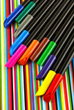 Colorful felt-tip Royalty Free Stock Photos