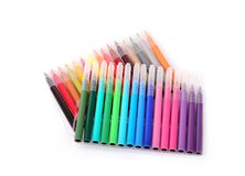 Colorful felt-tip pen. Isolated colorful felt-tip pen stock image