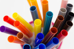 Colorful Felt Tip Pens. Royalty Free Stock Photos