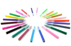 Colorful felt tip pens Royalty Free Stock Photos