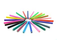 Colorful felt tip pens Royalty Free Stock Image