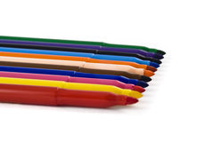 Colorful felt-tip pens or markers isolated Royalty Free Stock Photo