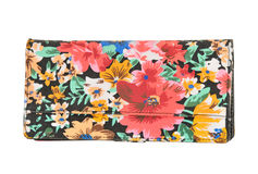 Colorful female clutch isolated on white. Background Royalty Free Stock Image