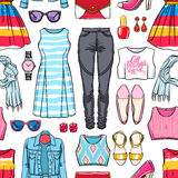 Colorful female summer clothing Royalty Free Stock Photo