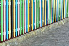 Colorful Fence Royalty Free Stock Photography