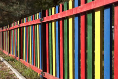 Colorful fence - RAW format Royalty Free Stock Photo